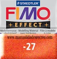 Fimo cobre 27 - Pasta fimo effect, Cobre, arcilla polimérica de endurecido en horno casero.