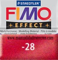Fimo rojo metalizado 28 - Pasta fimo effect, Rojo metalizado, arcilla polimérica de endurecido en horno casero.