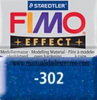 Fimo azul glitter 302 - Pasta fimo effect, Azul Glitter, arcilla polimérica de endurecido en horno casero.