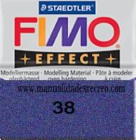 Fimo azul metalizado 38 - Pasta fimo effect, Azul metalizado, arcilla polimérica de endurecido en horno casero.