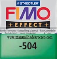 Fimo verde translucido 504 - Pasta fimo effect, Verde translucido, arcilla polimérica de endurecido en horno casero.