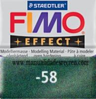 Fimo verde oscuro metalizado 58 - Pasta fimo effect, Verde metalizado, arcilla polimérica de endurecido en horno casero.