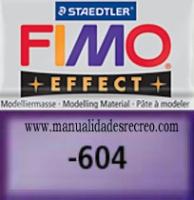 Fimo morado translucido 604 - Pasta fimo effect, Morado translucido, arcilla polimérica de endurecido en horno casero.