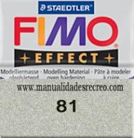Fimo plata 81 - Pasta fimo effect, Plateado, arcilla polimérica de endurecido en horno casero.