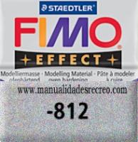 Fimo plata glitter 812 - Pasta fimo effect, Plata con brillantina, arcilla polimérica de endurecido en horno casero.