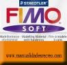 Pastilla Fimo Nº76 Coñac - fimo soft, Pastilla de 56g Nº 76 Coñac