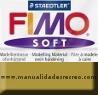 Pasta Fimo Oro - fimo soft, Pastilla de 56g Nº color dorado