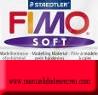 Pastilla Fimo Nº24 Rojo - fimo soft, Pastilla de 56g Nº 24 rojo india