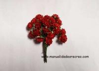 Rosas rojas en miniatura - Manojo de 12 rosas rojas