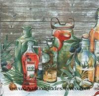 Paquete de servilletas, Especias y aceite - Paquete de servilletas decorativas, Esencias y aceites