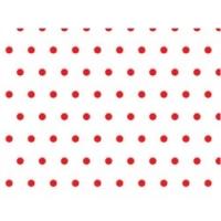 Goma eva blanca lunares rojos - Goma eva brillantina roja