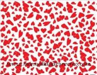 Goma eva corazones rojos - Goma eva color blanco con corazones