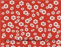 Goma eva roja de flores - Goma eva color rojo de flores