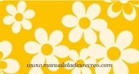 Goma eva, Amarilla Margaritas - Goma eva estampada, 48 x 35