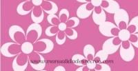 Goma eva, Rosa margaritas - Goma eva estampada, láminas de 48 x 30