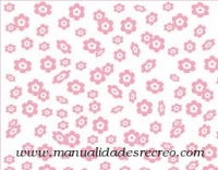 Goma eva flores rosas - Goma eva color blanco con margaritas rosas