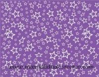 goma eva morada con estrellas - Goma eva color morado con dibujos de estrellas