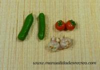 Surtido de verduras - Surtido de tomates, ajos y calabazas