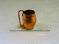 Jarra de cobre 01 - Vasija de cobre martele 3cm aprox.