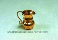 Jarra de cobre 03 - Jarra de cobre martele 3cm.