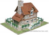 Maqueta de casa de ladrillos, Conjunto Cántabro - Maqueta de casitas de piedras para construir