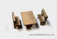 Mesa de madera con bancos - Mesa de madera con bancos