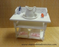 Mueble lavabo - Mueble palanganero de madera