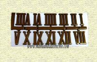 Números romanos reloj 1cm