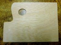 Paleta de madera cuadrada