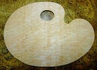 Paleta de madera oval -