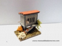 Palomar en miniatura - Palomar de madera en miniatura