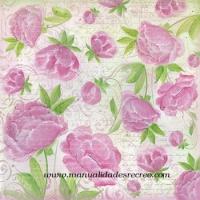 Papel de arroz DFT240 Flores rosas - Papel de arroz rosas