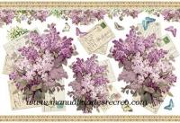 Papel de arroz lilas y cartas DFS271 - Papel arroz alta calidad