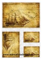 Papel de arroz Mapa - Papel de arroz mapa navegante