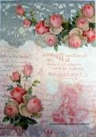Papel arroz Rosas romanticas -