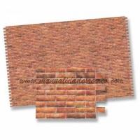 Papel imitación de ladrillo - Papel para maquetas de ladrillos