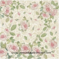 Papel de arroz DFT255 Rosas suaves
