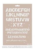 Plantilla starcir, Letras Vintages 30cm x 21cm - Plantilla starcido tamaño 30cm x 21cm, Letras estilo vintage