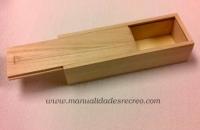 Plumier de madera - Plumien de madera natural