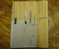 Portapinceles de bambú