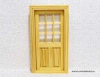 Puerta cristal madera sin pintar para Ratoncito Pérez