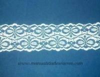 Tela para cortinas o visillos de tejas - Puntilla para imitación a cortinas