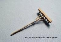 Rastrillo rústico - Rastrillo de madera