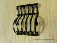 Reja forjada grande - Reja de metal negra