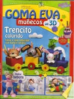 Revista muñecos 3D, Trenecito - Revista de muñecas con goma eva.
