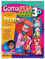 Revista muñecos 3D, Fofuchas Nº 1 - Revista de muñecos en tres D, fofuchas Payaso colorido
