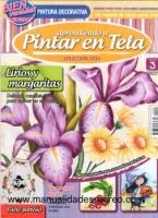 Revista Aprendiendo a pintura sobre tela, lirios