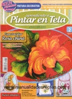 Revista aprendiendo a pintar tela, Rosa china
