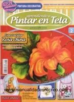 Revista aprendiendo a pintar tela, Rosa china - Revista de pintar tela, Delicadas Rosas