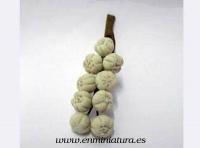 Ristra de ajos - Ristra de ajos en miniatura